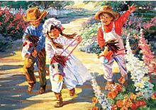 Puzzle Art Puzzle 500 pieces: Small riders