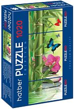 Puzzle Hatber 2х260 and 500 items: Butterfly