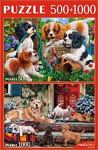 Puzzle Red Cat 500#1000 details: Funny dogs