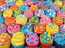 Puzzle Clementoni 500 pieces: Colorful cupcakes