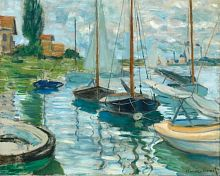 Puzzle Pomegranate 1000 pieces: Claude Monet: Sailing boats on the Seine