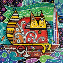 Puzzle wooden 135 parts DaVICI: cat-sailor