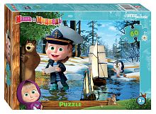 Puzzle Step 60 details: Masha and the Bear - 2