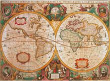 Puzzle Clementoni 1000 details: Antique map of