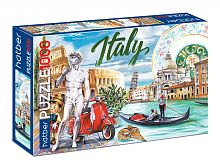 Hatber puzzle 1000 pieces: Around the world Italy