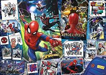 Puzzle Trefl 500 details: Posters with a superhero (spider-Man)