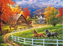Puzzle Castorland 200 items: Farm horse valley