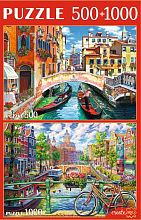 Puzzle Red cat 500#1000 items such as Venice and Amsterdam