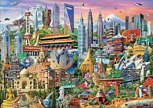 Jigsaw puzzle Educa 1500 parts: Sights of Asia