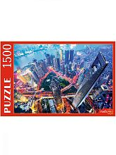 Puzzle Red Cat 1500 pieces: Evening skyscrapers in Shanghai
