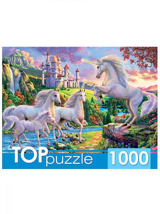 TOP Puzzle 1000 pieces: The fabulous world of unicorns ХТП1000-2177