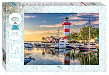 Puzzle Step 1500 of components: USA. The Island Of Hilton Head. Lighthouse Harbor