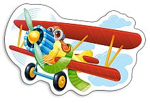 Puzzle Castorland 15 details: a Fun airplane