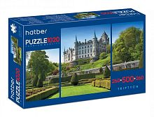 Puzzle Hatber 2х260 and 500 parts of Castle