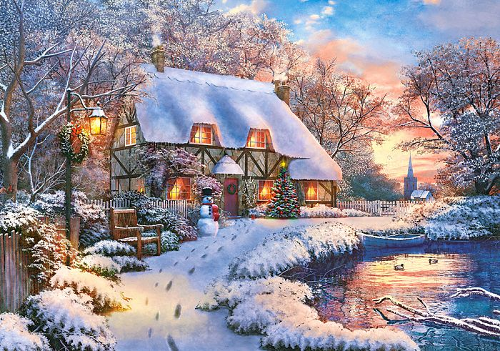 Puzzle Castorland 500 items: Winter cottage B-53278